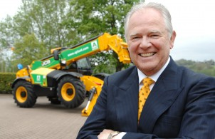 JCB CEO Alan Blake pictured with one of the A Plant machines