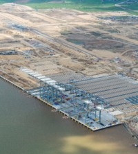 An aerial shot of the London Gateway site, which is due to open in late 2013 - image courtesy of londongateway.com