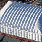One of Base Structures past projects was the temporary Basketball Arena for the London 2012 Games - photo courtesy of Base Structures