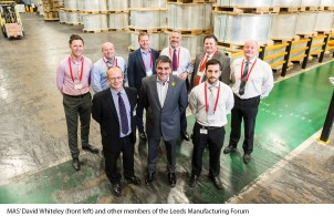 MAS' David Whiteley (front left) with members of the Leeds Manufacturing Forum.