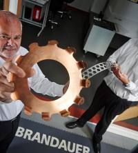 New CEO at Brandauer, Rowan Crozier (right) and out-going CEO, David Spears (left)