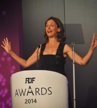 Broadcaster Katie Derham presents the FDF awards. Image courtesy of Flickr