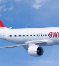 SWISS, a member-airline of Lufthansa Group, in flight