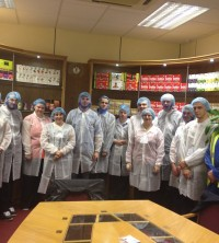 Young people were given the chance to visit the Typhoo factory