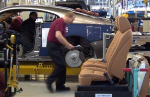 UK factory output rises in July