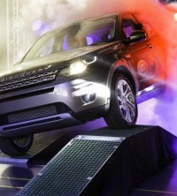 The first Land Rover Discovery Sport rolls of the Halewood production line.