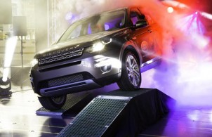 First Land Rover Discovery Sport rolls of Halewood production line.