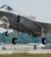 Australia's first F-35 named AU 1 takes off for its first flight - image courtesy of Lockheed Martin with photos by Liz Kaszynski and Alexander Groves.