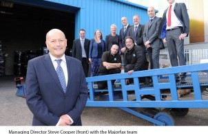 Managing director Steve Cooper with the Majorfax team