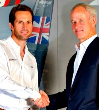 Image from left to right: Sir Ben Ainslie and Robin Hancock, MD of Siemens PLM.
