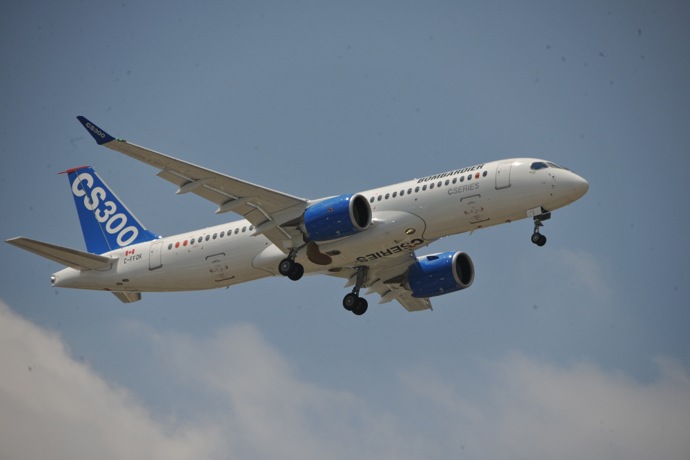 Bombardier unveiled its new C-Series at Paris Air Show 2015.