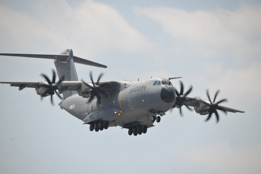 Despite its recent fatal crash, Airbus Defence and Space showcased its A400M at Paris Air Show 2015.