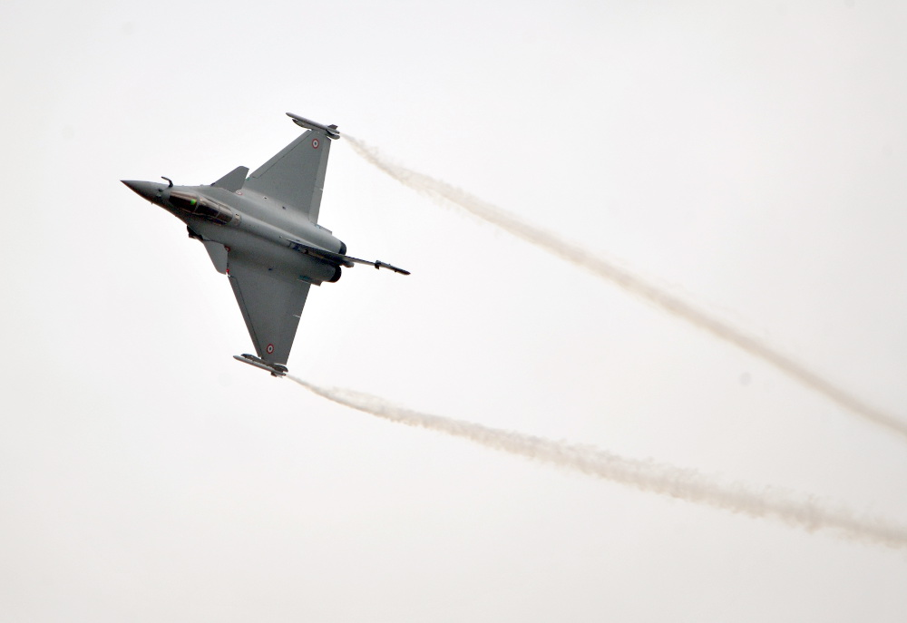 The Dassault Aviation Rafale at Paris Air Show 2015.
