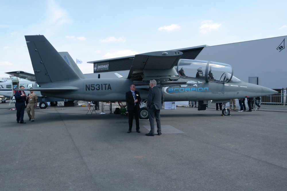 The Textron Aviation Scorpion at Paris Air Show 2015.