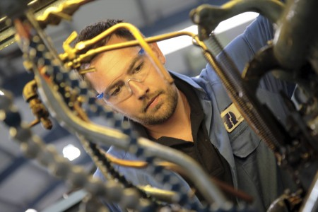 An employee suggestion to use compsite material tufnol as a coating for bearings has extended the life of expensive parts at TR Fastenings