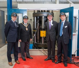 From left to right - Mike Pooley, MD Exova Europe, Councillor Alan Finch, Mayor of Dudley, Ian Austin MP, Dudley North, and Ian El-Mokadem, CEO of Exova