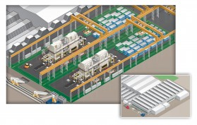 An glimpse into Stadco's future. 3D modelling has helped to plan the installation of its new press lines.