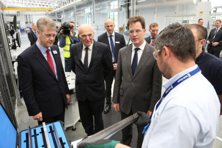 Clegg and Cable visit Rolls-Royce plant