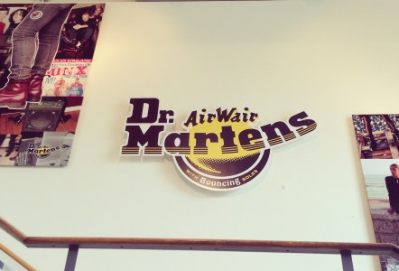 The entrance to Dr. Martens' Wollaston site, where it has had a presence since 1960.