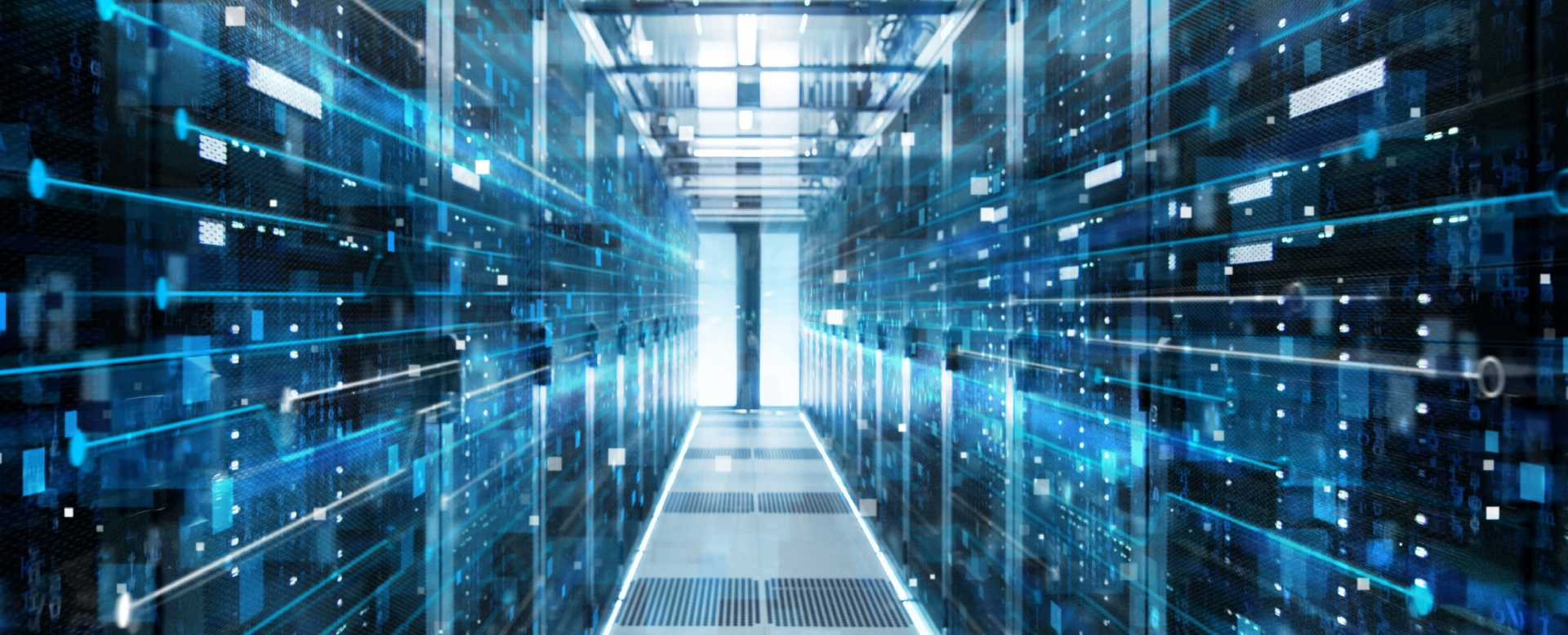 CROP - Server Room IT Digital Technology - stock image